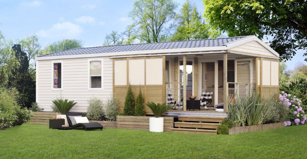 mobil home en location au camping calme en Vendée