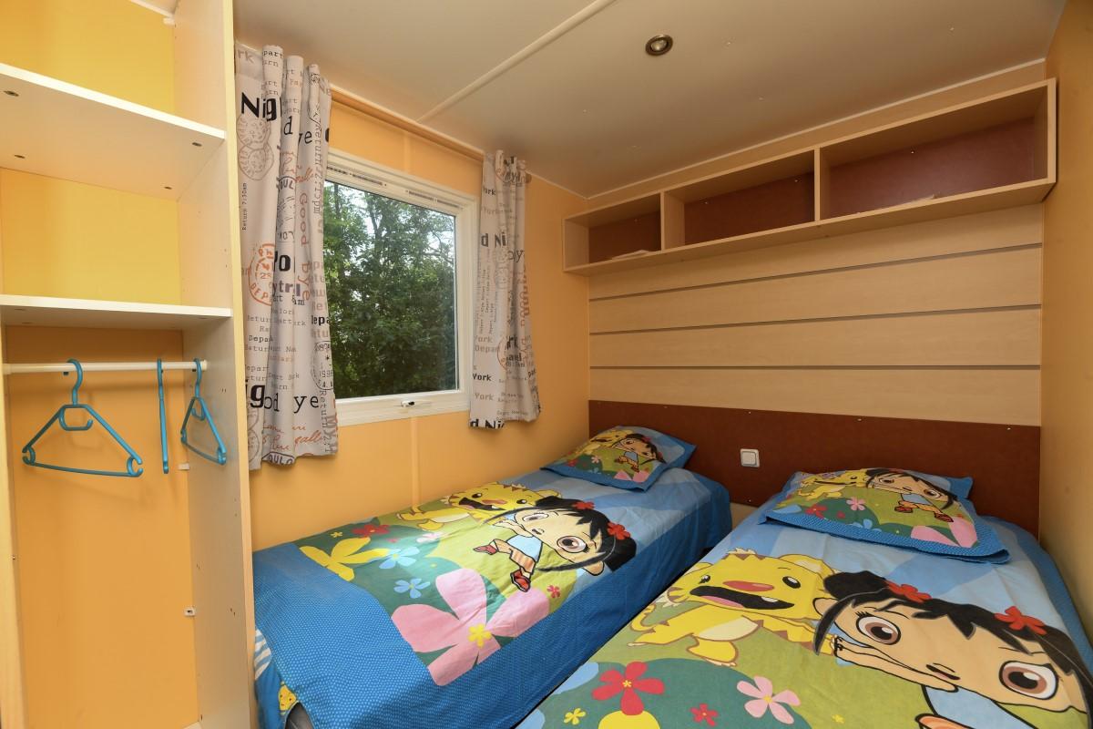 chambre 2 lits 1 personne camping Vendée