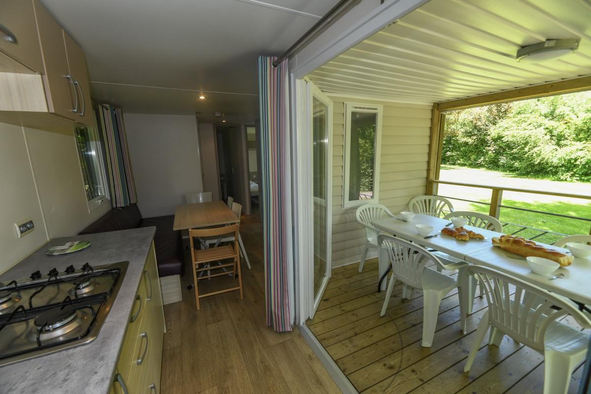 Cuisine mobil-home Soléo 3 chambres Vendée