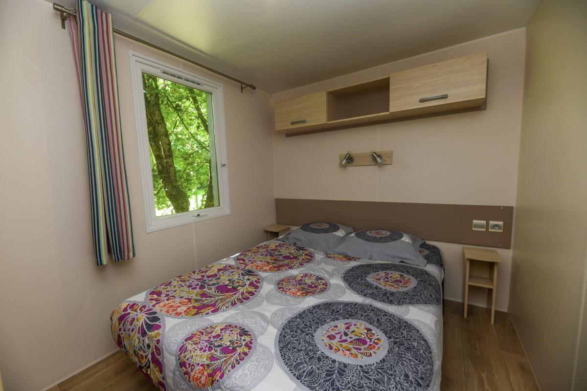 Mobil-home chambre 1 camping Vendée